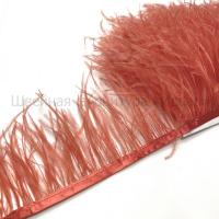 Перьевая лента из перьев страуса (ярко-коралловый)