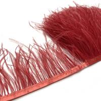 Перьевая лента из перьев страуса (красный)