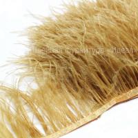 Перьевая лента из перьев страуса (светло-горчичный)