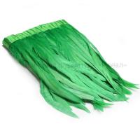 Перья петуха на ленте 30см/2м (зеленый)