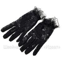 Перчатки гипюровые (черный)