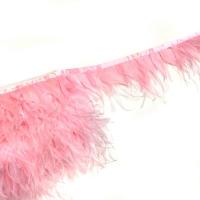 Перьевая лента страус-петух (розовый)