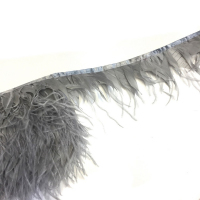 Перьевая лента страус-петух (светло-серый)