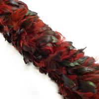 Боа из перьев петуха (красно-черный)