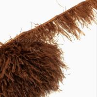 Перьевая лента из перьев страуса (карамель)