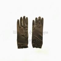 Перчатки атласные (коричневый)