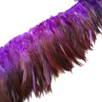 Перья вороны на нити фиолетовый