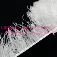 Перьевая лента из перьев страуса улучшенные БЕЛЫЙ