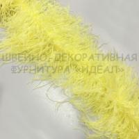 Боа из перьев страуса 6 нитей СВЕТЛО-ЖЕЛТЫЙ